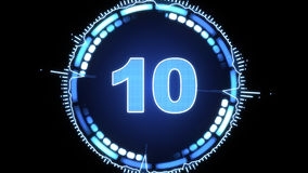 Modern digital countdown timer Stock Photography