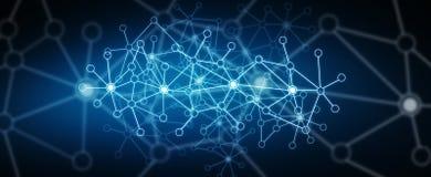 Modern digital data network. Futuristic modern digital data network Royalty Free Stock Photography