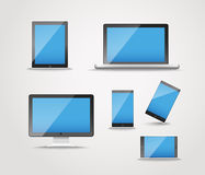 Modern digital device collection Stock Photos