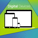 Modern digital devices sets geometric background Royalty Free Stock Photography