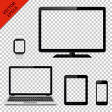 Modern digital devices with transparent screen Royalty Free Stock Photo