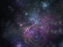 Modern digital future chaos artistic creative power background ethereal shining science. Abstract digital background future ethereal science shining dream ease royalty free illustration