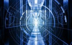 Modern digital graph holograms flying over server room data center. programming data design element.,concept of big data. Modern digital graph holograms flying royalty free stock photo