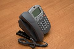 Modern digital IP phone stock photography