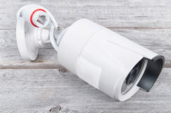 Modern digital IP surveillance camera Royalty Free Stock Images