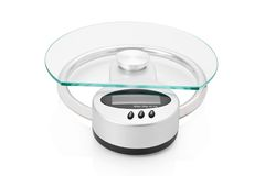 Modern digital kitchen scale Stock Photography