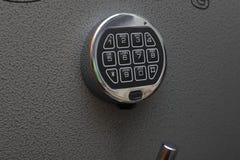 Modern digital lock on safe stock photo