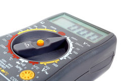 Modern digital multimeter on a white background Royalty Free Stock Photos