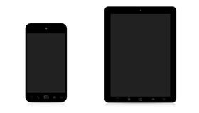 Modern digital phone and tablet on white background Stock Photography