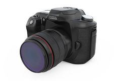 Modern Digital Photo Camera. 3d Rendering Royalty Free Stock Images