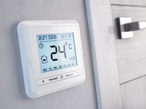 Modern digital programmable Thermostat Stock Image