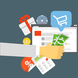 Modern digital shop concept Stock Photography