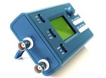 Modern digital signal oscilloscope isolated on white background Royalty Free Stock Image