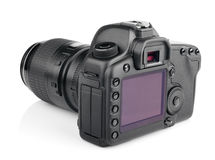 Modern digital SLR camera Royalty Free Stock Photography