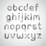 Modern digital style texture font. Stock Photo
