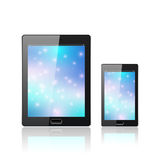 Modern digital tablet PC. Medical design. Scientific vector illustration. Stock Photos