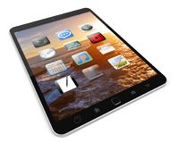 Modern digital tactile tablet 3D rendering Royalty Free Stock Photography
