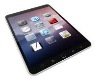 Modern digital tactile tablet 3D rendering. Modern digital tactile tablet on white background 3D rendering Stock Images