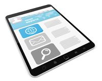 Modern digital tactile tablet 3D rendering. Modern digital tactile tablet on white background 3D rendering Royalty Free Stock Images