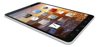 Modern digital tactile tablet 3D rendering. Modern digital tactile tablet on white background 3D rendering Stock Photography
