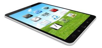 Modern digital tactile tablet 3D rendering. Modern digital tactile tablet on white background 3D rendering Stock Photos