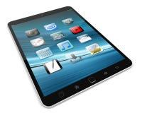 Modern digital tactile tablet 3D rendering. Modern digital tactile tablet on white background 3D rendering Royalty Free Stock Photo