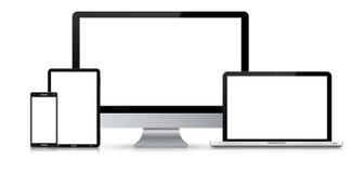 Modern digital tech device collection Stock Photos