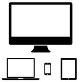 Modern digital tech device collection Royalty Free Stock Image