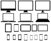Modern digital tech device collection Royalty Free Stock Photography