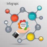 Modern digital template vector  banner infographics. Stock Image