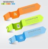 Modern digital template vector  banner infographics. Paper Modern digital template vector  banner infographics Stock Image
