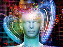 Modern Digital Thoughts Stock Image
