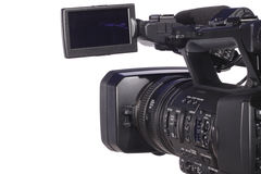 Modern digital video camera Royalty Free Stock Photos