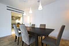 Modern dining area Royalty Free Stock Photo