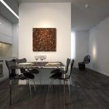 Modern dining corner. Dining corner in minimalist appartment Royalty Free Stock Image