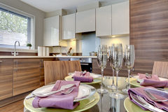 Modern dining Kitchen Stock Images