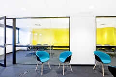 Modern dining place next to meeting room Stock Images