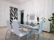 Modern dining room Royalty Free Stock Photo
