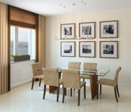 Modern dining-room Stock Image