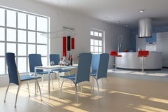 Modern dining room Royalty Free Stock Photography