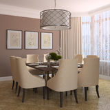 Modern dining-room. Royalty Free Stock Images
