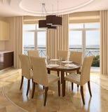 Modern dining-room. Stock Photos