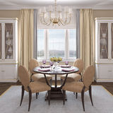 Modern dining-room. Modern dining-room interior.3d render Royalty Free Stock Photography