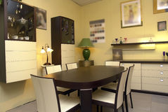 Modern Dining Room Royalty Free Stock Photos