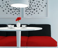 Modern Dining Room. Royalty Free Stock Images