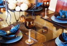 Modern Dining room area Stock Image