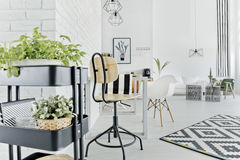 Modern dining room area Stock Photography