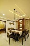 Modern dining room in Calicut  Royalty Free Stock Image