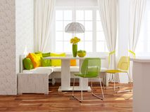 Modern dining room. Royalty Free Stock Image