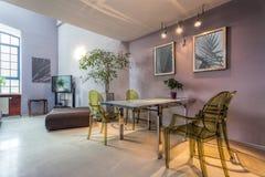 Modern dining room interior Stock Photography